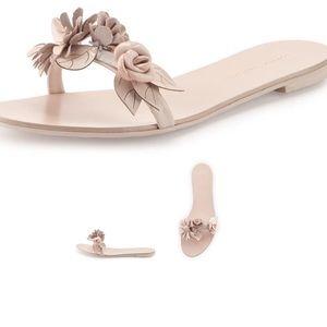 Sophia Webster Lilico Nude Floral Slide $325